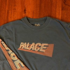 PALACE BLUE AND PINK LONG SLEEVE
